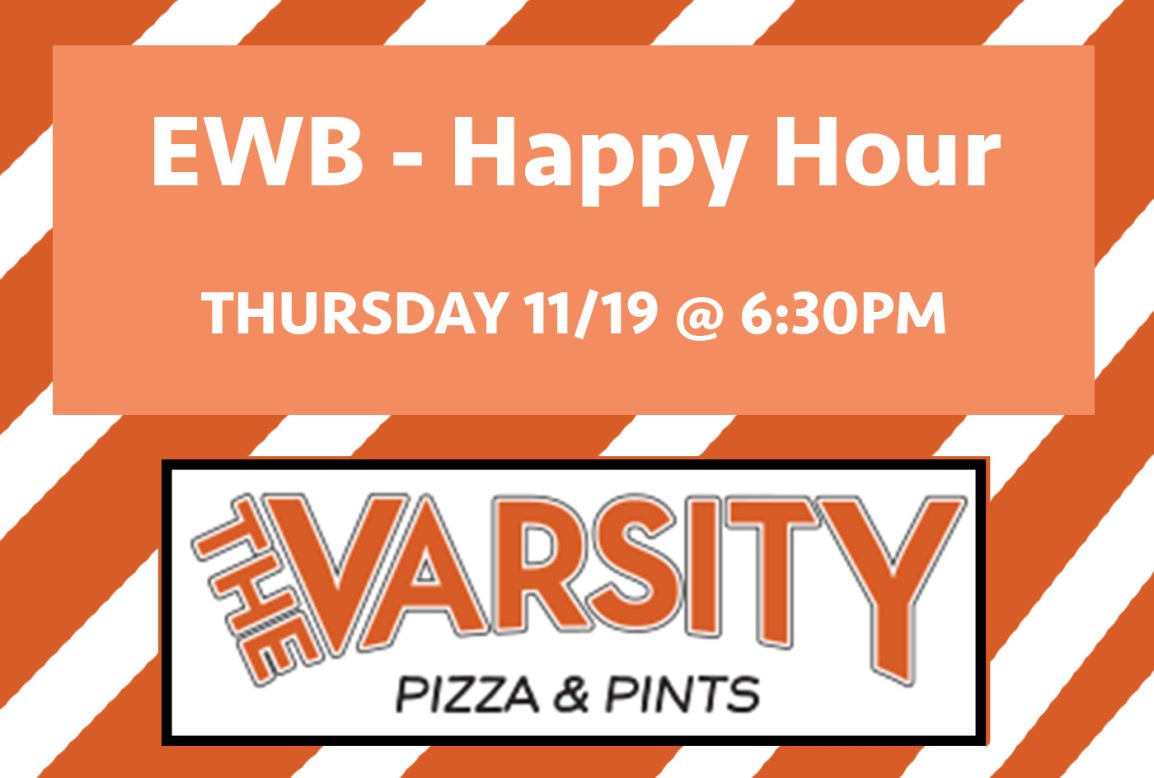 Monthly Happy Hour at Varsity Pizza!