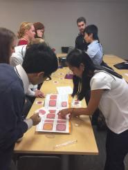 Jennifer Franklin and Alice Zhao shows off Petrifilms