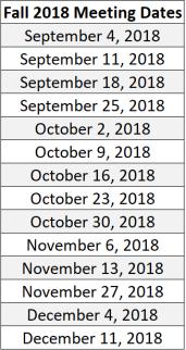 EWB fall meeting dates